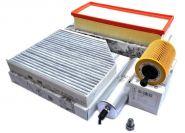 Original Audi Teile A4 8K A5 8T + Q5 8R 2.0L TDI Filter SET Motor Service Inspektionspaket Öl Luft Innenraum Kraftstoff