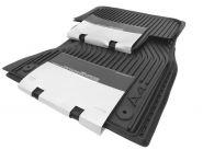 Original Audi A4 8K Gummimatten Auto Gummi Fußmatten S-Line Avant + Limousine S4 RS4 4-teilig schwarz