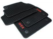 Original VW Golf VII 5G GTI R GTD / Golf 7 Variant Gummimatten Fußmatten R-Line Original Qualität 4-teilig schwarz/rot