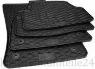 Gummimatten VW Golf 7 5G Seat Leon 5F ST Kombi Fußmatten Original Qualität Auto Allwetter Matten 4-teilig schwarz