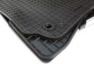 Gummimatten VW Passat 3B 3BG Fussmatten Gummi Original Qualität W8 Auto Allwetter 4-teilig schwarz Drehknebel oval