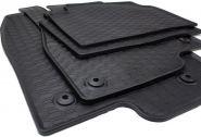 Gummimatten Mazda 3 ab 2013 Fußmatten Gummi Original Qualität Auto Allwetter 4-teilig schwarz rund Druckknopf