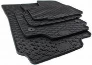 Gummimatten VW UP! 1S Skoda Citigo Seat Mii Fussmatten Original Qualität Allwetter Matten 4-teilig schwarz Druckknopf rund
