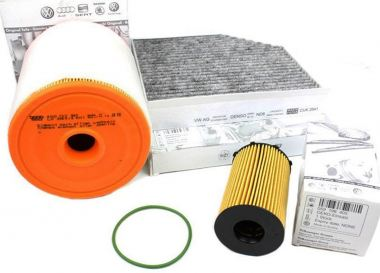 Original Audi Teile A6 A7 4G + A6 Allroad 3.0L TDI Motor Inspektionspaket Filter Service 3-teilig