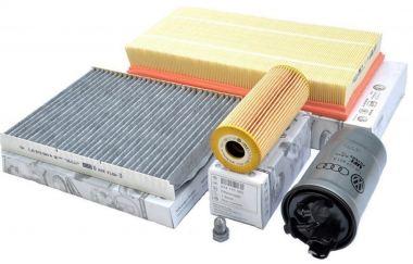 Original VW Audi Seat Skoda Teile 1.9L TDI Motor Inspektionspaket Filter groß Golf 4 Bora A3 Beetle Toledo Octavia