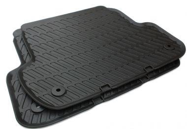 Original Audi Teile A4 S4 RS4 8E Gummimatten B6 B7 Fußmatten S-Line hinten schwarz