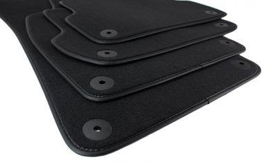 Fußmatten Audi A4 8E Teppich Velours Seat Exeo S-Line Original Qualität S4 RS4 Leder Einfassband schwarz