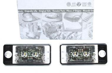 Original Audi LED Kennzeichenbeleuchtung S-Line Leuchten A3 S3 8P A4 S4 8E A6 S6 RS6 4F A8 S8 Q7 4L V12