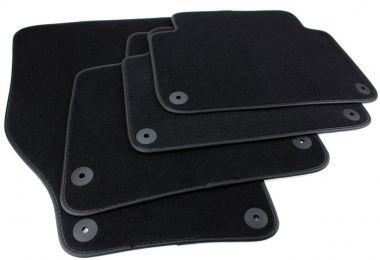 Fußmatten Audi Q7 4L Velours Original Qualität Autoteppich S-Line Leder Einfassband schwarz Baujahr 2006-2015
