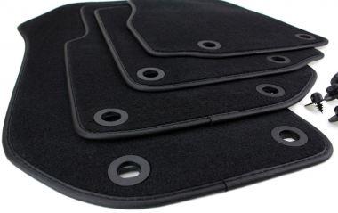 Fußmatten BMW 3er E36 Velours Original Qualität Autoteppiche Stoffmatten M3 (Touring + Limousine) schwarz 4-teilig