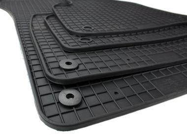 Gummimatten NEW Audi Q7 SQ7 4M Q8 Fussmatten Gummi Original Qualität SQ7 V6 V8 TDI Auto Allwetter 4-teilig schwarz
