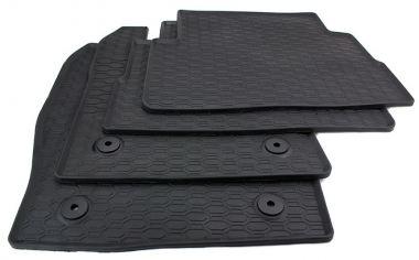Gummimatten Ford Kuga II ab 2013 Fußmatten Gummi Original Qualität Auto Allwetter 4-teilig schwarz rund Druckknopf