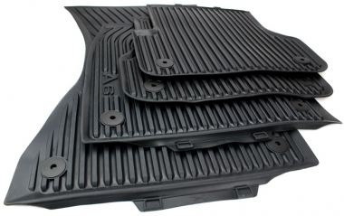 Original Audi Gummimatten A6 (4G) Fußmatten S-Line A6 Allroad S6 RS6 Allwetter 4-teilig schwarz