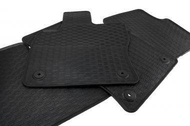 Waben Gummimatten VW Touran 5T ab 2015 Original Qualität Fußmatten R-Line Gummi Allwetter Matten 3-teilig schwarz Druckknopf rund