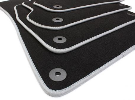 Fußmatten passend für Audi A3 S3 8P Sportback Cabriolet Velours in Premium Qualität Stoffmatten schwarz/grau