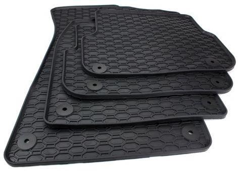 Fußmatten passend für Audi A6 (C6) 4F Allroad Gummimatten Allwetter in Premium Qualität 4-teilig schwarz