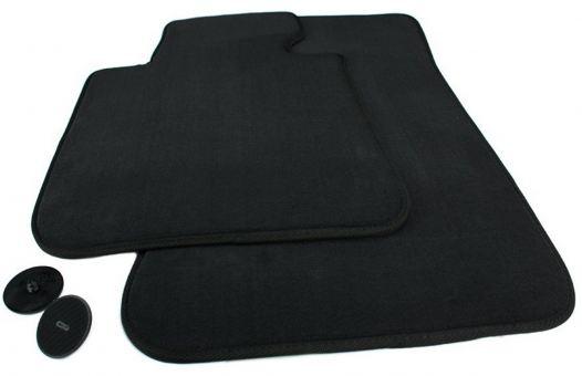 Fußmatten vorne passend für BMW 1er E81 E87 E82 Coupe E88 Cabriolet Velours Premium Qualität Autoteppiche 2-teilig vorn schwarz