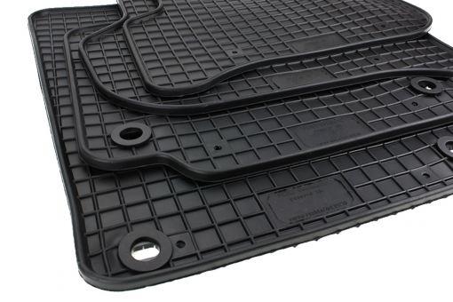 Gummimatten passend für VW Golf Plus 5 6 Fußmatten Gummi Premium Qualität Cross Golf Auto Allwetter 4-teilig schwarz oval