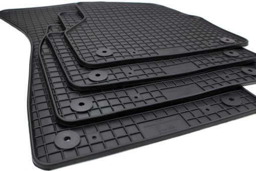 Gummimatten passend für Audi A6 C8 (4K) ab 2018 A7 Sportback Fußmatten Allwetter in Premium Qualität Matten schwarz