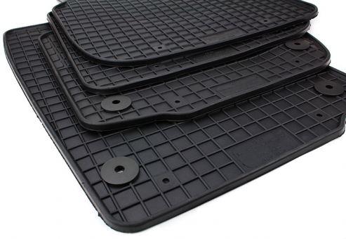 Gummimatten passend für Skoda Rapid NH ab 2012 Fußmatten Gummi Premium Qualität für Rapid+Spaceback ab 2012 Allwetter Matten