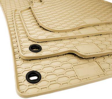 Gummimatten passend für VW Passat B6 B7 3C CC Fussmatten Gummi Premium Qualität Waben  Auto Allwetter 4-teilig oval beige