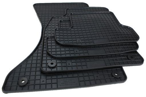 Fußmatten Allwetter passend für Audi A5 Coupe 8T Cabriolet Gummimatten in Premium Qualität 4-teilig schwarz