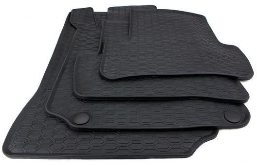 Gummimatten passend für Mercedes Benz C-Klasse W204 S204 E-Klasse C207 A207 Fußmatte Premium Qualität Allwetter schwarz 4-teilig