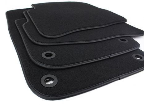 Fussmatten passend für VW Passat 3C B6 + CC Velours Premium Premium Qualität Autoteppich 4-teilig schwarz oval