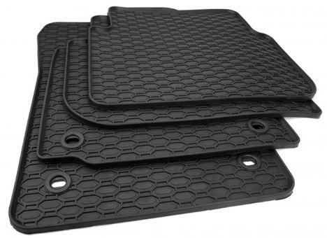 Gummimatten passend für VW Touran 1T Fussmatten Gummi Premium Qualität Allwetter 4-teilig schwarz oval