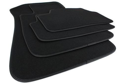 Fußmatten passend für BMW 1er (E87) 5-türer Velours Premium Qualität Autoteppich 4-teilig schwarz