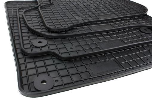 Gummimatten passend für VW Golf PLUS Fußmatten Gummi Cross Golf Auto Allwetter Matten 4-teilig schwarz