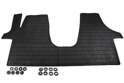 Gummimatten passend für VW T5 T6 Fußmatten Premium Qualität für Multivan Kombi Shuttle Allwetter ab 2003 vorne Transporter 7H schwarz