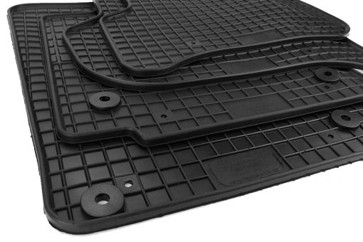 Gummimatten passend für Seat Leon 1P 2005-2012 Fußmatten Gummi Premium Qualität Allwetter Matten 4-teilig schwarz