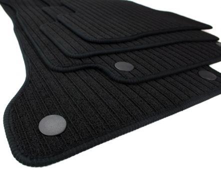 Fußmatten passend für Mercedes-Benz C-Klasse W205 S205 RIPS Velours Premium Qualität Autoteppich schwarz 4-tlg