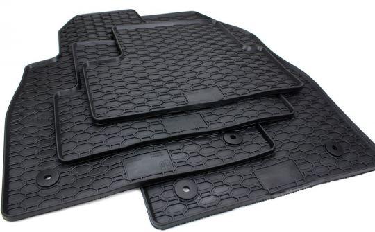 Gummimatten passend für Opel Astra J ab 2009 Cascada W13 Fußmatten Gummi Premium Qualität Auto Allwetter 4-teilig schwarz
