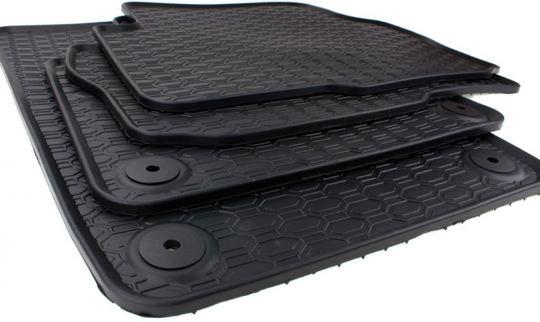 Gummimatten passend für VW Sharan 7N Fußmatten Gummi Premium Qualität Auto Allwetter 4-teilig schwarz ab 09/2010