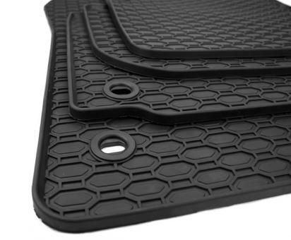Gummimatten passend für VW Touran 1T Fussmatten Premium Qualität Gummi Auto Allwetter 4-teilig schwarz Drehknebel oval
