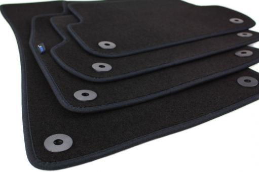Fußmatten passend für Audi A3 8P A3 Sportback A3 Cabriolet in Premium Qualität Velours Autoteppiche 4-teilig schwarz
