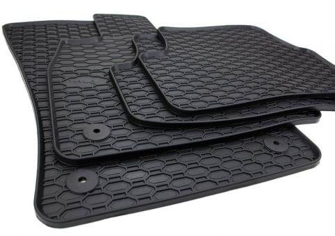 Waben Gummimatten passend für VW Passat VIII 3G B8 Fussmatten Gummi Premium Qualität für Alltrack 3G Auto Allwetter 4-teilig schwarz