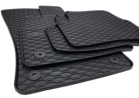 Gummimatten passend für VW Golf 7 5G (Variant Alltrack) Fußmatten Auto Gummi Premium Qualität Allwetter 4-tlg. schwarz rund