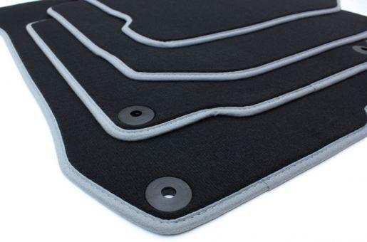 Fussmatten passend für VW Golf 4 Bora Beetle Velours Premium Qualität für Seat Leon Toledo 1M Autoteppich
