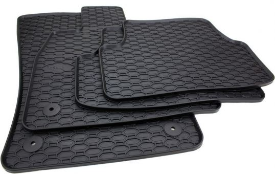 Gummimatten passend für VW Golf Sportsvan ab 2014 Fußmatten Gummi Premium Qualität Allwetter Auto schwarz 4-teilig