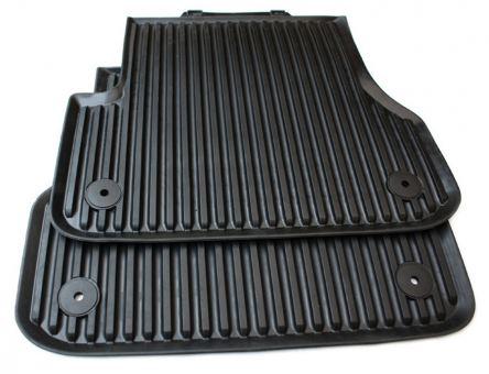 Gummimatten für Audi A6 A6 Allroad A7 Sportback 4G Auto Fußmatten Allwetter 2-teilig hinten schwarz