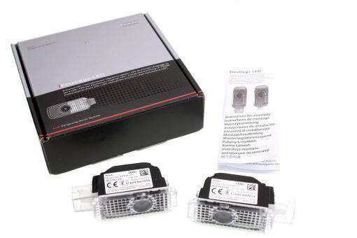 Original Audi LED Einstiegsbeleuchtung Logoprojektion Quattro für Fahrzeuge ab Werk ohne LED Leuchten