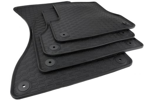 Waben Fußmatten Gummi passend für Audi A6 (4G) A7 Sportback A6 Allroad Premium Qualität Gummimatten Allwetter 4-teilig schwarz