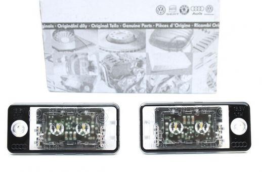 Original Audi LED Kennzeichenbeleuchtung Leuchten A3 S3 8P A4 S4 8E A6 S6 RS6 4F A8 S8 Q7 4L V12