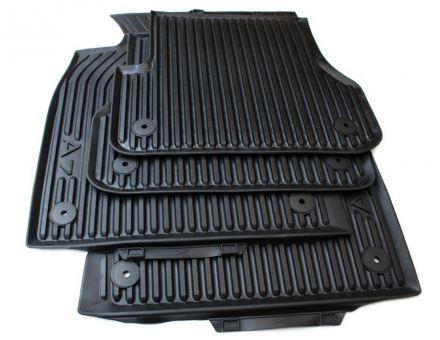 Original Audi Gummimatten A7 Sportback (4G) Fußmatten S7 RS7 Allwetter 4-teilig schwarz