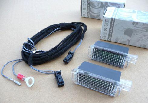 LED Fußraumbeleuchtung kompatibel zu Golf 7 5G Nachrüstung vorne Kabelsatz LED Leuchten für Fußraum