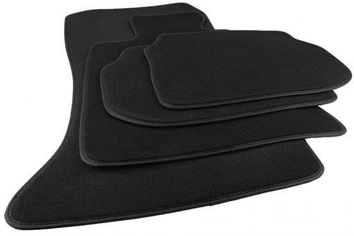 Fussmatten passend für BMW 5er F10 F11 ab 2013 Touring Velours Premium Qualität Autoteppiche schwarz 4-teilig 8x Befestigungen