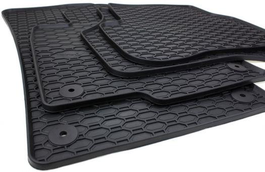 Gummimatten passend für VW Passat B6 B7 3C CC Fussmatten Gummi Premium Qualität Auto Allwetter 4-teilig schwarz